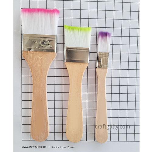 Brushes - Flat #5 - Set of 3