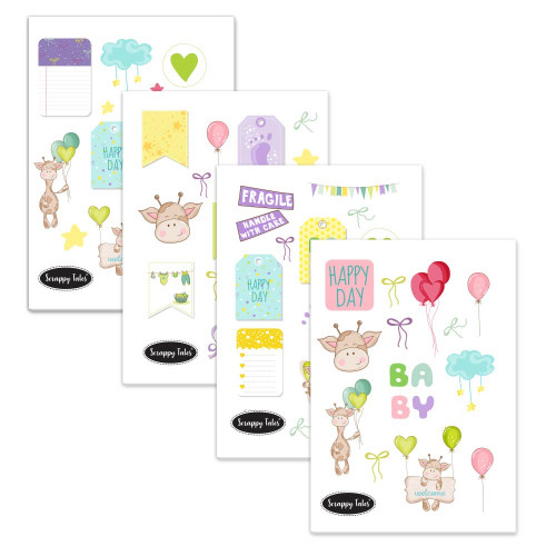 Paper Elements A5 - Baby Love - 4 sheets