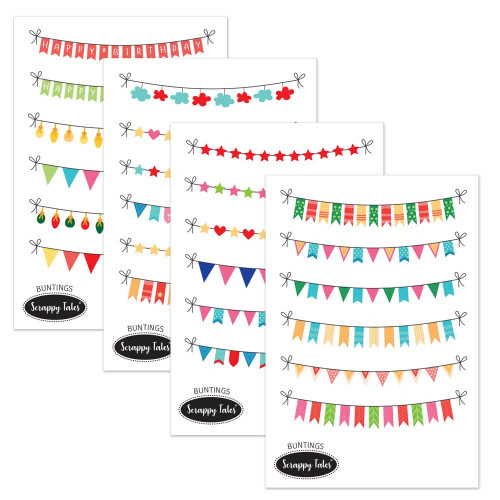 Paper Elements A5 - Buntings - 4 sheets