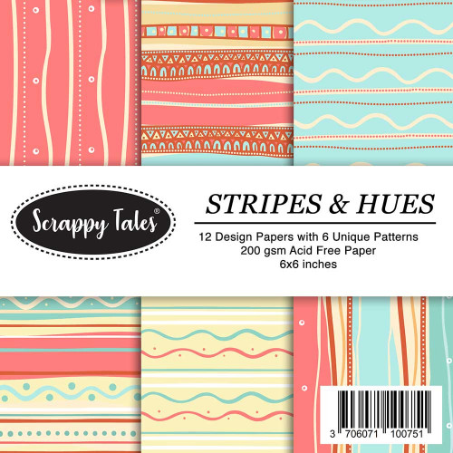 Pattern Papers 6x6 - Stripes & Hues - Pack of 12