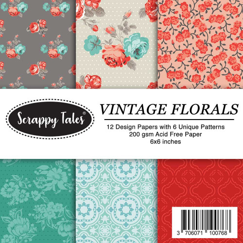 Pattern Papers 6x6 - Vintage Florals - Pack of 12
