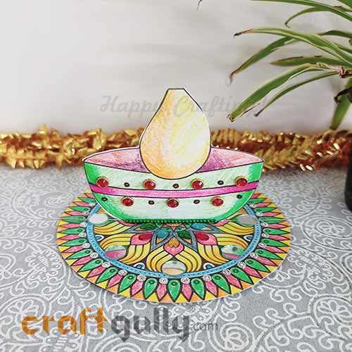 CraftGully 3D Diwali Diya Printable