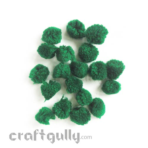 Pom Poms 20mm - Dark Green - Pack of 25