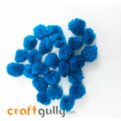 Pom Poms 20mm - Cerulean Blue - Pack of 25