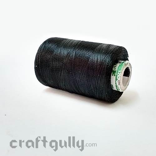Faux Silk Thread - Black