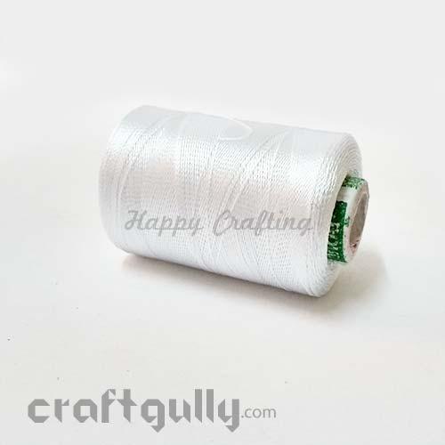 Faux Silk Thread - White