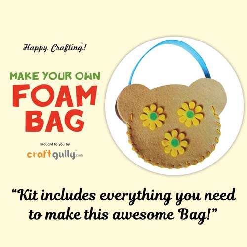 Make Your Own Foam Bag - Small - Teddy - Brown