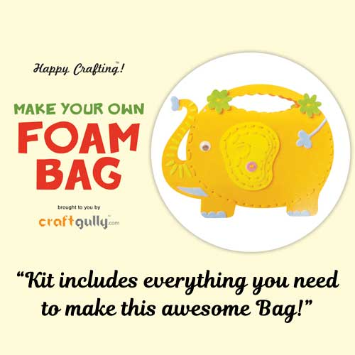 Make Your Own Foam Bag - Big - Elephant - Orange