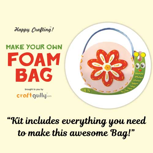 Make Your Own Foam Bag - Big - Snail - Pink