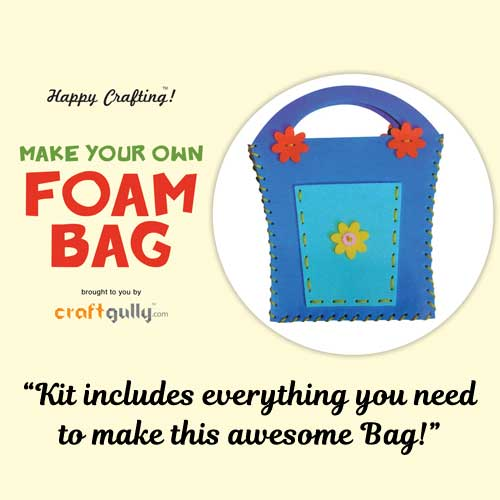 Make Your Own Foam Bag - Big - Basket - Blue