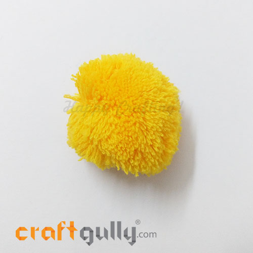Pom Poms 48mm - Golden Yellow - Pack of 1