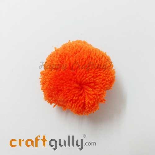 Pom Poms 48mm - Orange - Pack of 1