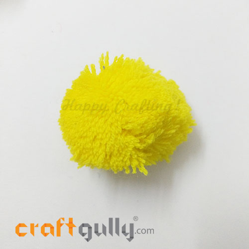 Pom Poms 48mm - Sunflower Yellow - Pack of 1