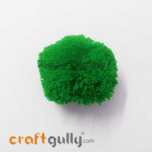 Pom Poms 35mm - Green - Pack of 1