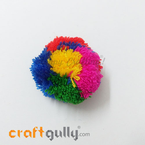 Pom Poms 48mm - Multi Coloured - Pack of 1