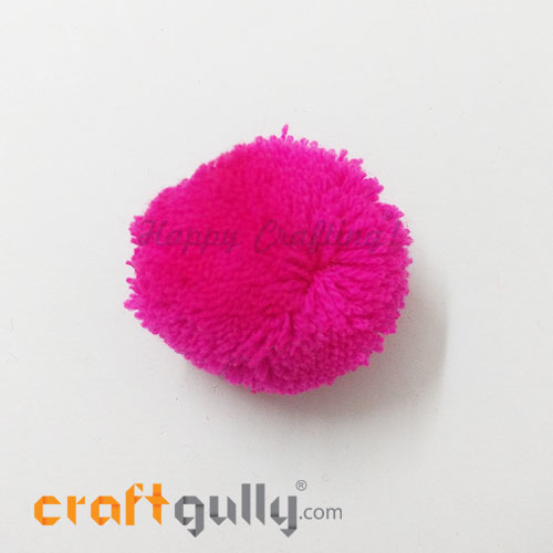 Pom Poms 48mm - Dark Pink - Pack of 1
