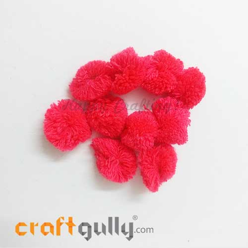 Pom Poms 22mm - Pink - Pack of 10