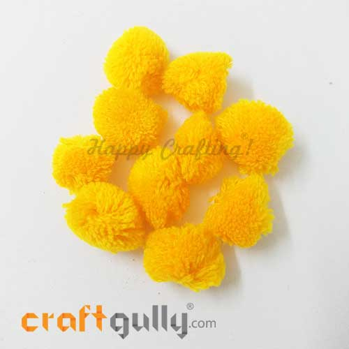 Pom Poms 22mm - Golden Yellow - Pack of 10