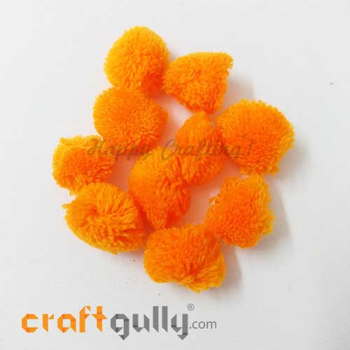 Pom Poms 22mm - Orange Sunrise - Pack of 10