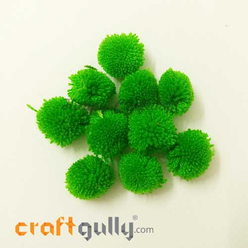 Pom Poms 22mm - Light Green - Pack of 10