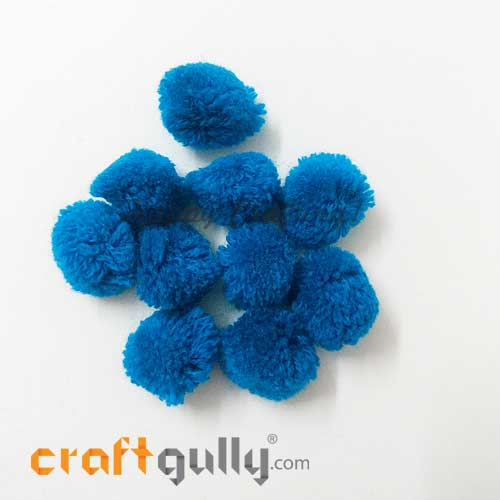 Pom Poms 22mm - Cerulean Blue - Pack of 10