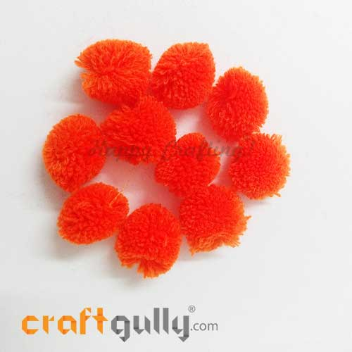 Pom Poms 22mm - Orange Sunset - Pack of 10