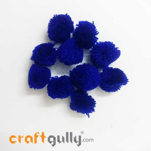 Pom Poms 22mm - Royal Blue - Pack of 10