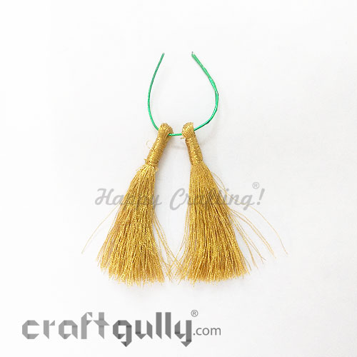 Tassels 55mm - Metallic Golden - Pack of 2