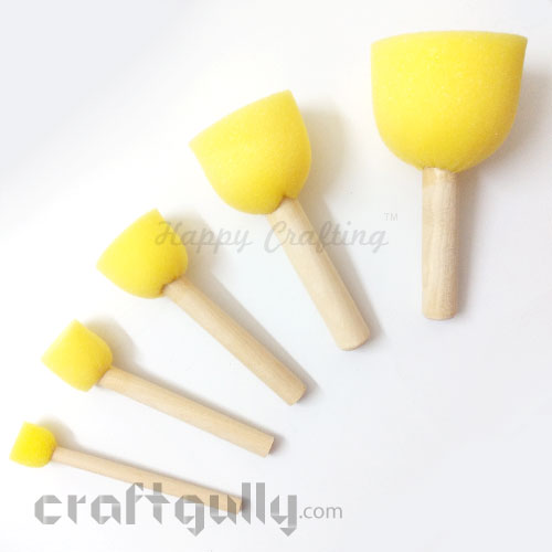 Foam Brush - Round Dabbers - Assorted - Set of 5