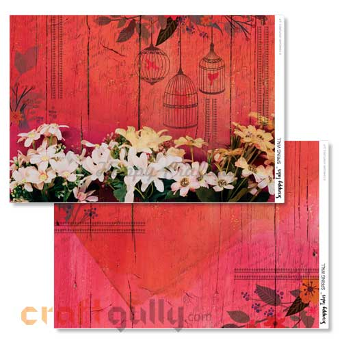 Decoupage Papers A4 - Spring Wall - 100gsm - Pack of 4