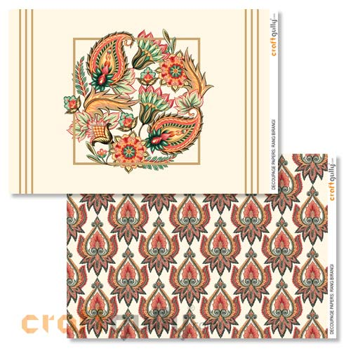 Decoupage Papers A4 - Rang Birangi - Pack of 4