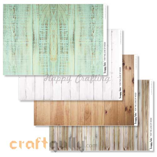 Decoupage Papers A4 - For The Love Of Wood- Pack of 4