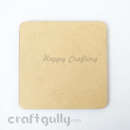 MDF Blank Coasters 98mm - Square - Pack of 1