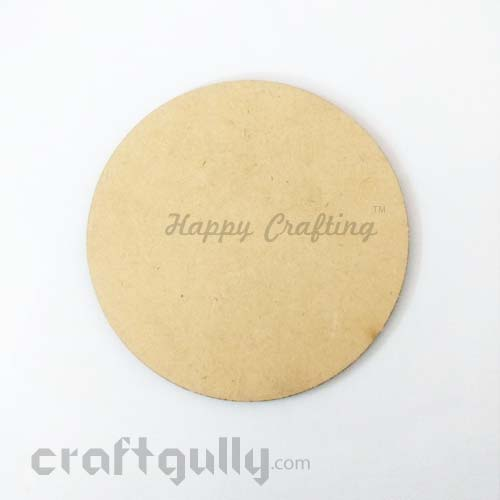 MDF Blank Coasters 98mm - Round  - Pack of 1