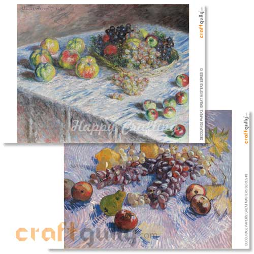 Decoupage Papers - Great Masters Series #3 - 100gsm - 4 Sheets
