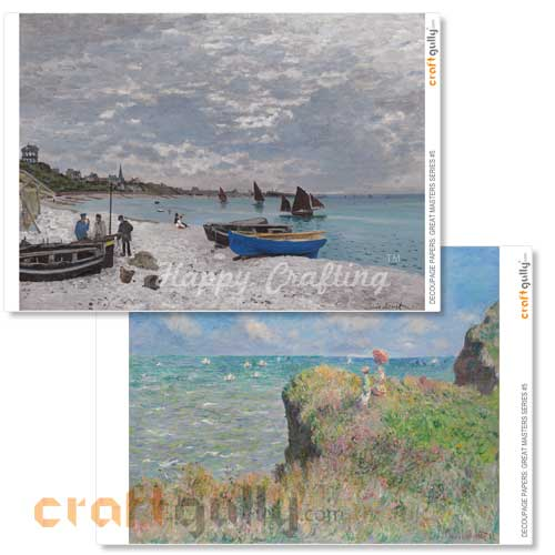 Decoupage Papers - Great Masters Series #5 - 100gsm - 4 Sheets