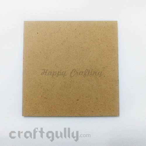 MDF Blank Coasters 98mm - Square #2 - Pack Of 1