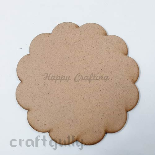 MDF Blank Designer Coasters 119mm - Flower - Pack Of 1