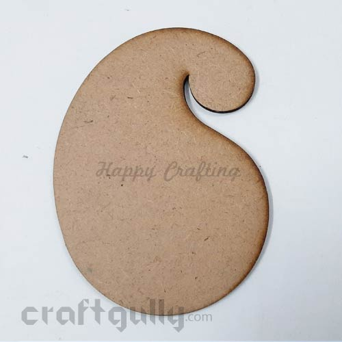 MDF Blank Designer Coasters 121mm - Paisley - Pack Of 1