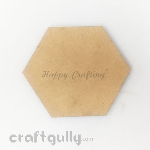 MDF Blank Coasters 115mm - Hexagon - Pack Of 1