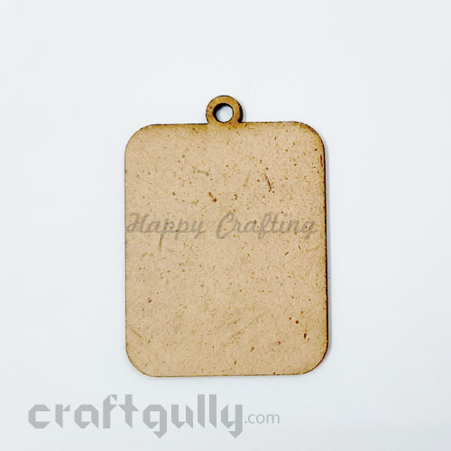 MDF Blank Keychains #2 - 55mm Rectangle - Pack of 1