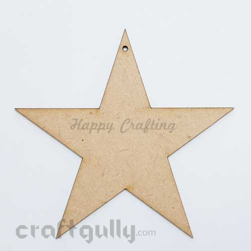 MDF Blank Designer Shapes 100mm - Star - Pack of 1