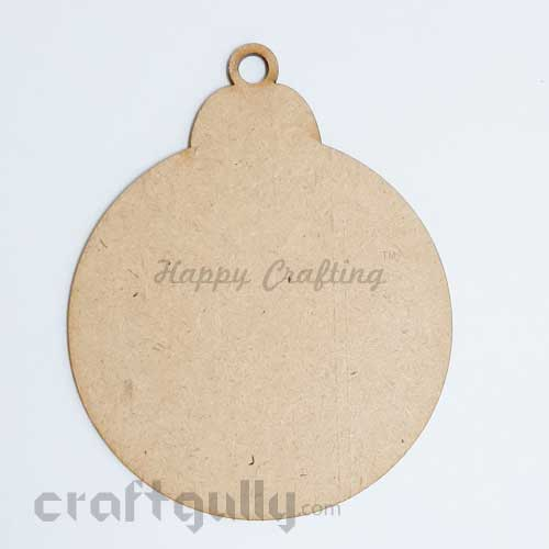 MDF Blank Designer Shapes 100mm - Bauble - Pack of 1
