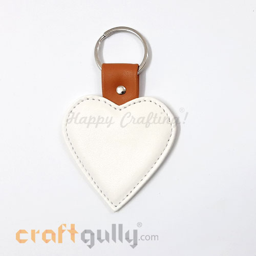 PVC Blanks - Keychains Heart - Pack of 1