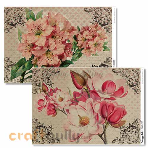Decoupage Papers A4 - Timeless - 100gsm - Pack of 4