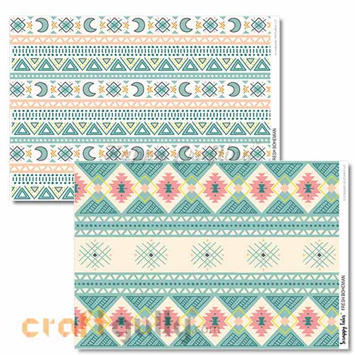 Decoupage Papers A4 - Fresh Bohemian - 100gsm - Pack of 4