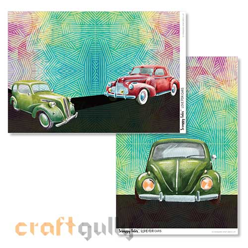 Decoupage Papers A4 - Love For Cars - 100gsm - Pack of 4
