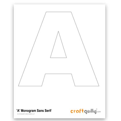 Free CraftGully Printable - Monogram Sans Serif - A