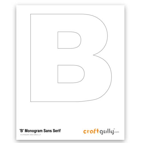 Free CraftGully Printable - Monogram Sans Serif - B