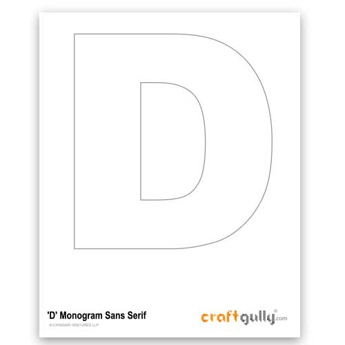 Free CraftGully Printable - Monogram Sans Serif - D